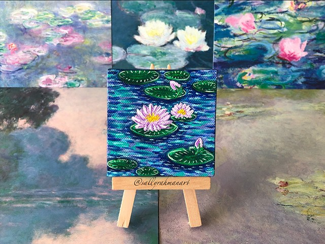 Inspired by Monet's water lilies