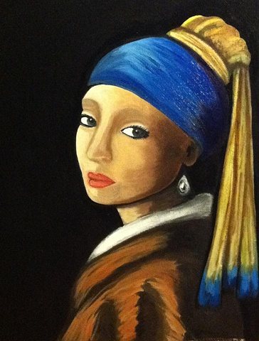 "My Impression of  ""The Girl with the Pearl Earring"""