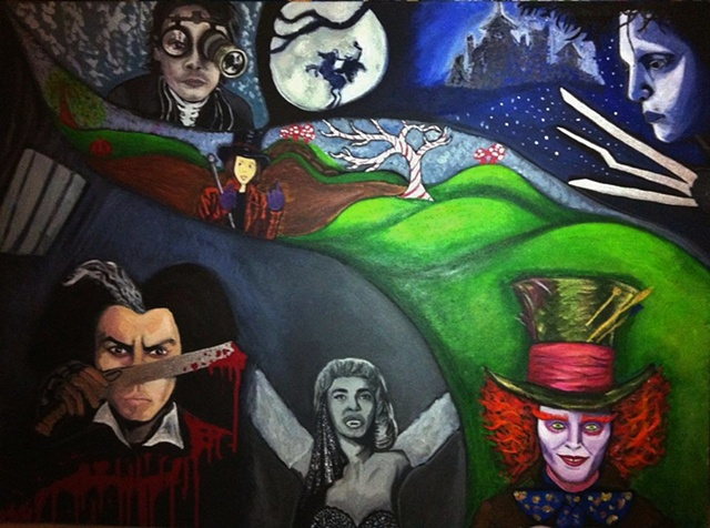 The many Tim Burton faces of Johnny Depp