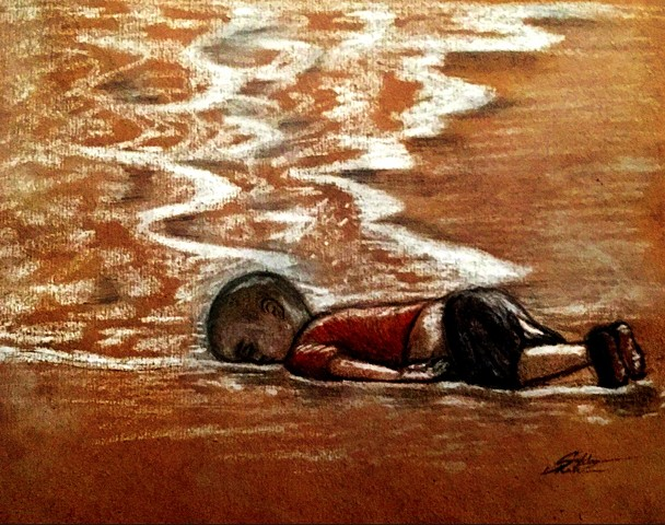 """Humanity washed ashore"""