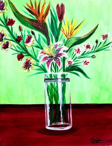 "Still Life ""Exotic Bouqet"""