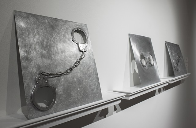 Installation view of Catenary 2019, Clasp, and Asaraton 2019