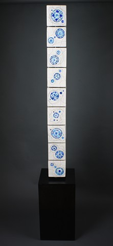 Glass Blue Gears Totem