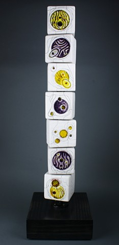 Yellow Purple Universe Mini Totem askew