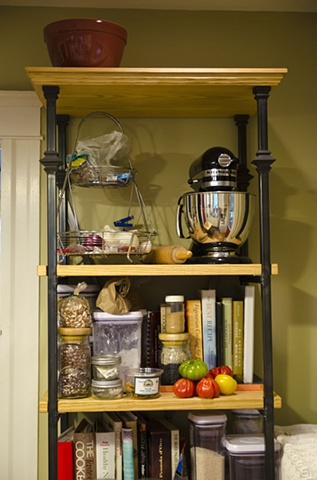 Vintage Industrial Kitchen Shelf