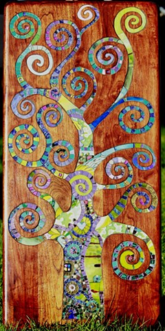 Spiral tree of life mosaic