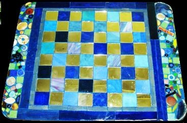 Chess Board Mosaic