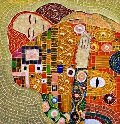 The embrace mosaic Gustav Klimt