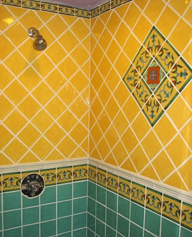 Mexican Talavera Tile Shower