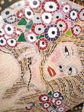 Water Serpents mosaic, Gustav Klimt