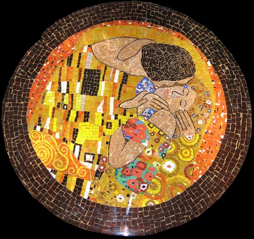 gustav klimt mosaic the kiss