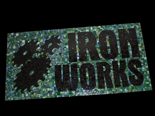 Ironworks Mosaic Sign