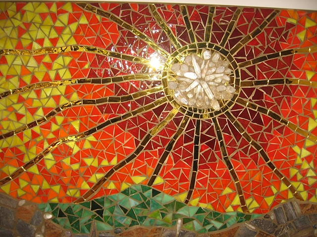 sunset kitchen mosaic detail by lily russo