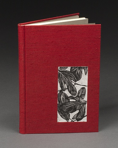 Full Cloth Rounded Spine Case Binding (inset Sassafras lithograph print)