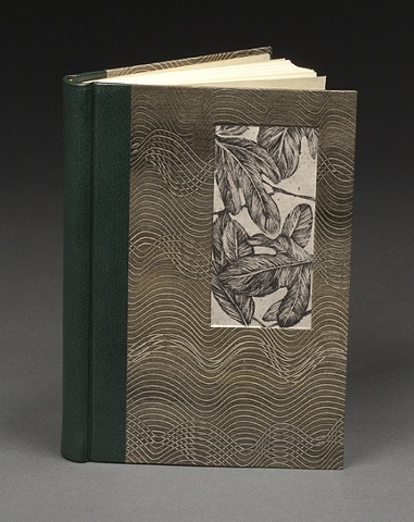 Quarter Leather Rounded and Backed Spine Case Binding (with inset Sassafras lithograph print)