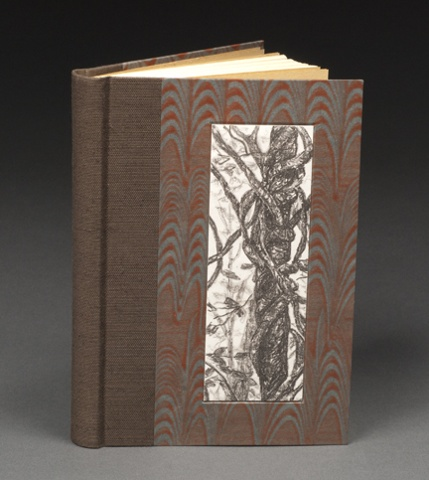 Quarter Cloth Rounded Spine Case Binding (inset lithograph print)