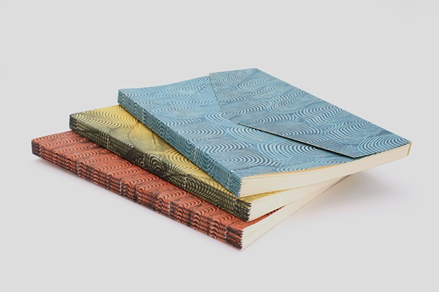 Pastepaper Longstitch bindings