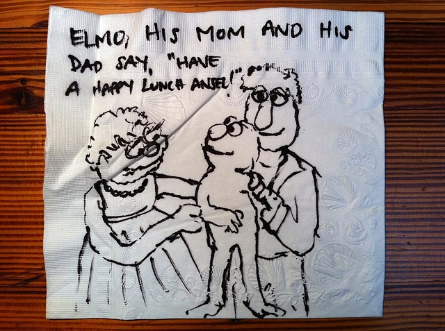 Elmo Family Napkin