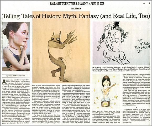 New York Times Review,  Characters Exhibition,  By Benjamin Genocchio