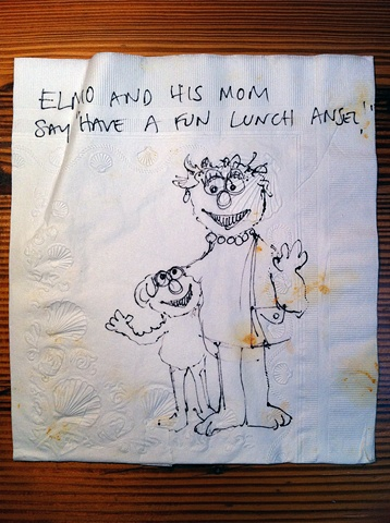 Elmo and Mom Napkin
