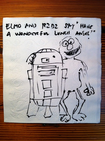 Elmo and R2D2