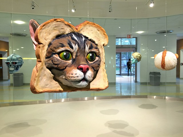 Popular Monsters Installation at LIU Brooklyn Toast Cat
