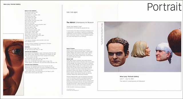 Aldrich Portrait Exhibition Brochure, Outside