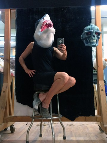 Popular Monsters Heads in the Studio Shark Lady
