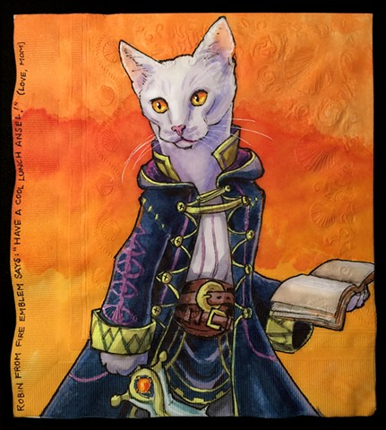 Fire Emblem Video Game Character Reimagined as a Cat