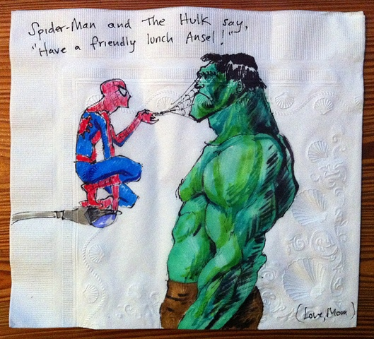 Spiderman Offends the Hulk