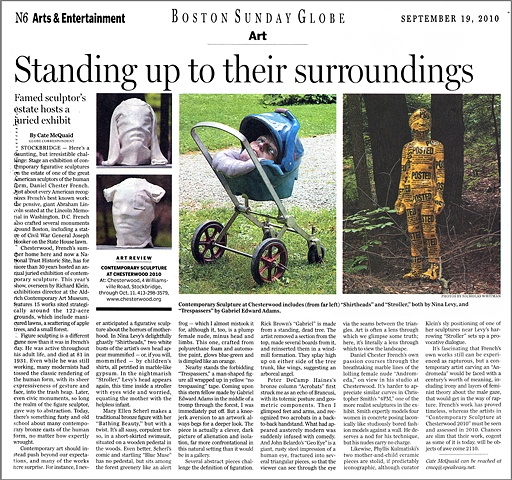 Boston Globe Review of Chesterwood Exhibition
