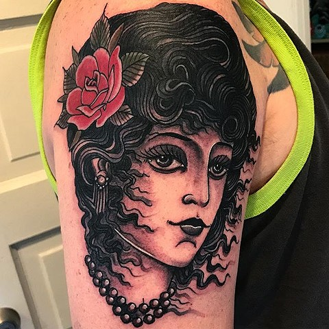 sacramento traditional tattoo gypsy lady rob junod