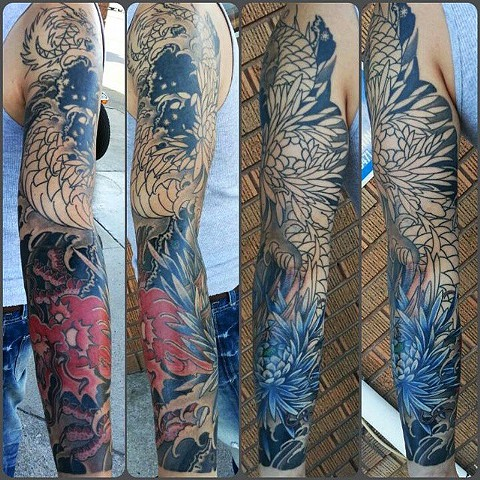 rob junod japanese tattoos chrysanthemum sacramento dragon