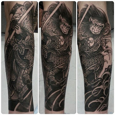 Monkey king  Japanese Springfield Missouri Tattoo rob junod