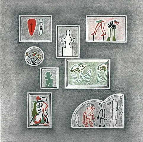 Les vignettes Crayon sur papier 30 x 30 cm
