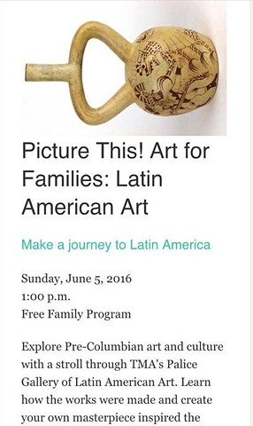 Tucson Museum of Art, Family Programs Picture This! Art for Families: Latin American Art, Michael Barrett & Claire Chien