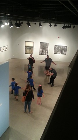 tucson museum of art, Artist Michael Barrett, performance art education