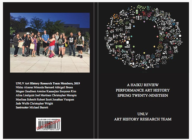 a haiku review, performance art history, poetry, michael barrett