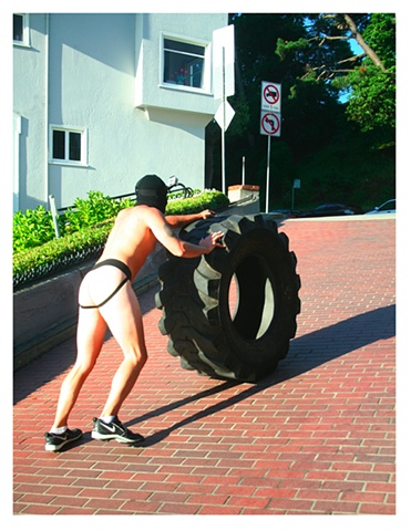 Lombard Street Hustle. Digital Print by Artist Michael Barrett. Limited Edition Series: 1/10