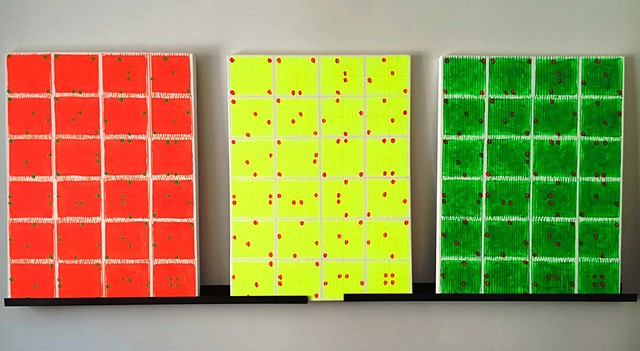 Red Yellow Green with Thumb Prints
