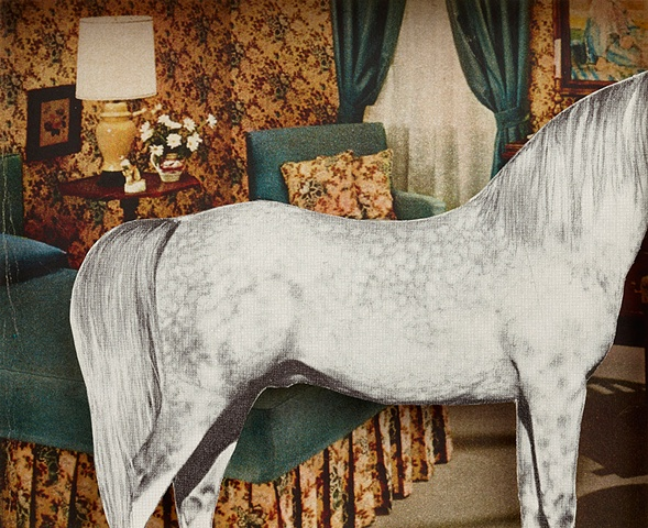 White horse blue room