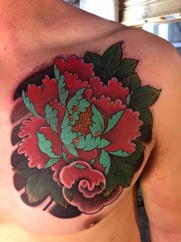 Peony flower chest