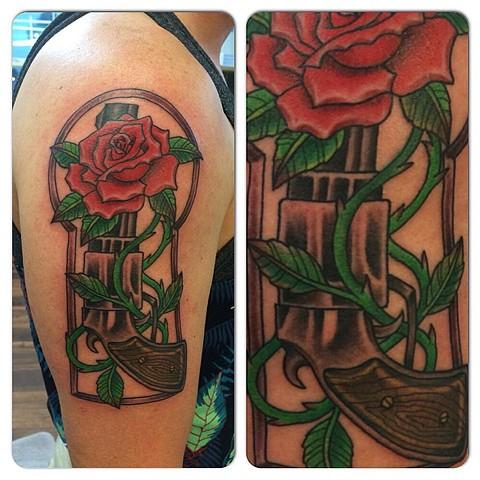 Gun and Rose