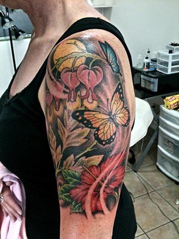 flowers half sleeve