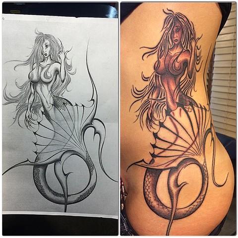 mermaid (clients drawing)
