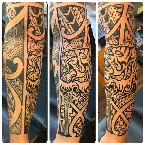 Polynesian arm (freehand)