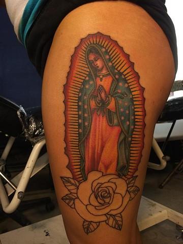 virgin mary/rose outline