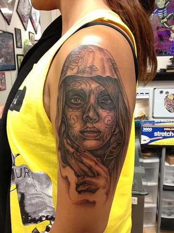 Day of the dead girl portrait