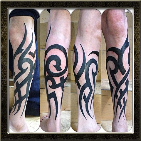 black tribal freehand one sitting