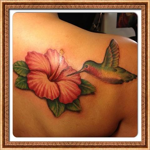 Hibiscus/Hummingbird